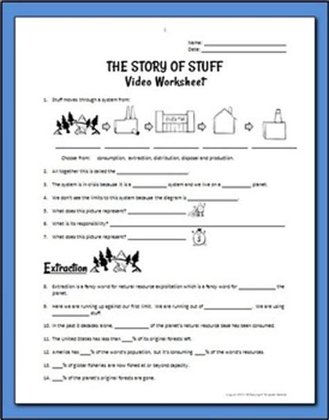 Story Of Stuff Worksheet Answers by The Story Of Stuff Worksheet Photos Toribeedesign