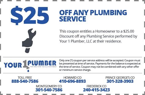 Coupon Code For Faucet by Specials Your 1 Plumber