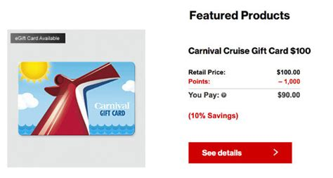 Carnival Cruise Gift Cards Discount - how we got a free 3 235 from verizon wireless to the thrifty couple