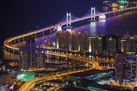 Korea Light south korea town busan house buildings bridge kvanan
