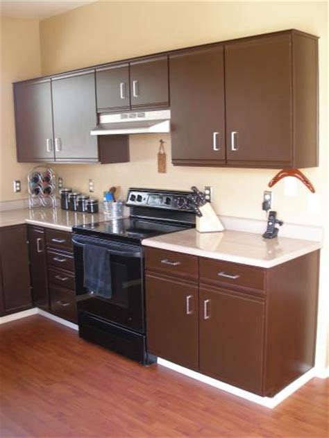 refinish laminate kitchen cabinets refinishing laminate cabinets thriftyfun