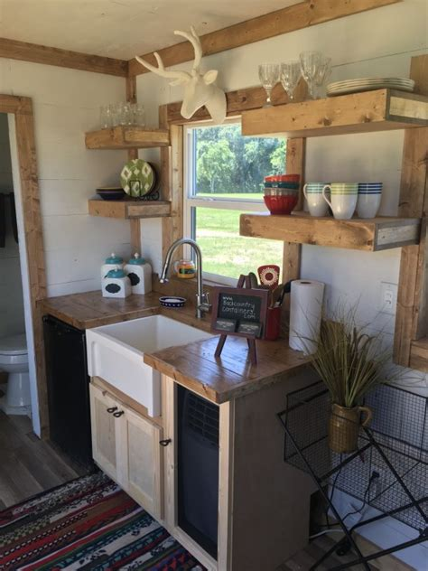 Tiny House Kitchen Ideas by Rustic Retreat Shipping Container Tiny House 29 9k