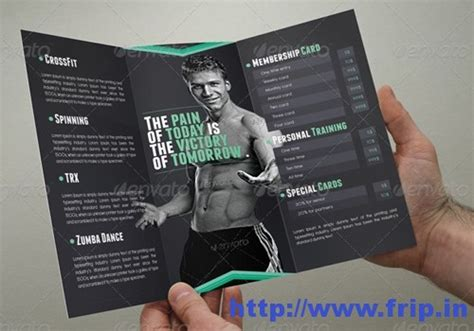 fitness brochure templates 50 best spa fitness hair salon brochure template frip in