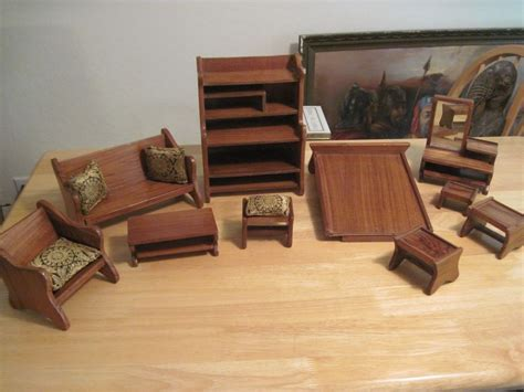 vintage handmade wood furniture doll size vanity