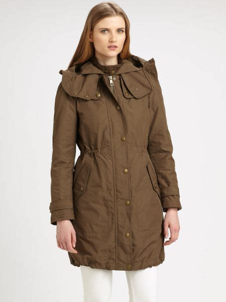 New Marc 2in1 burberry brit camberford 2in1 anorak in brown khaki green