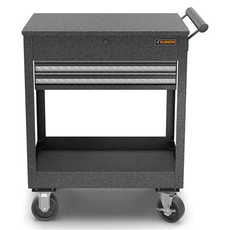 metal utility cart with drawers gladiator 27 in 2 drawer steel utility cart granite