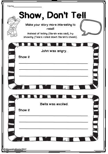 Show Don T Tell Worksheet by 84 Best My Teaching Resources Images On
