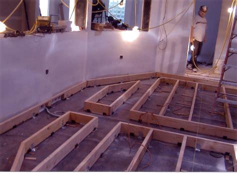 studio floor scr rubber decouplers steven klein s sound control room