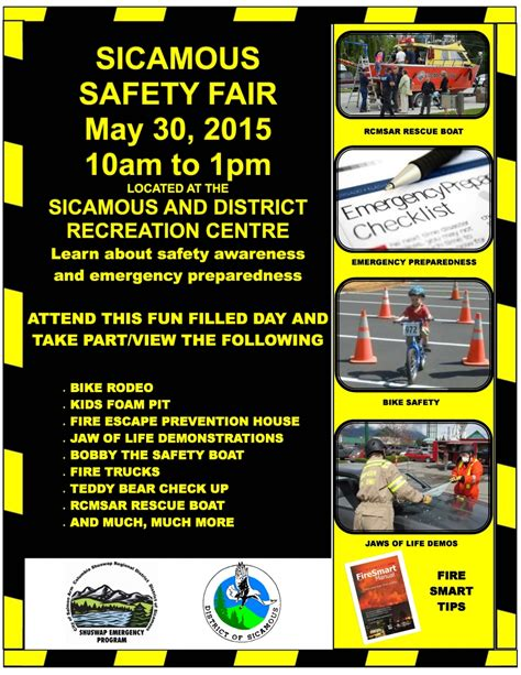sicamous safety fair columbia shuswap regional district