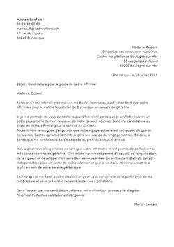lettre de motivation cadre infirmier staffsant 201