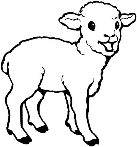 Outline Coloring Page by Sheep Outline Coloring Page Coloring Home