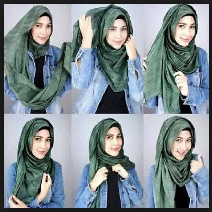 tutorial hijab casual 2015 gambar tutorial hijab modern casual new tutorial hijab