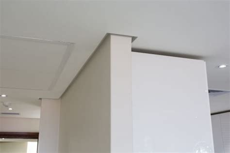 Shadow Line Gipsum 3 Meter ceiling trim for flush plastered ceilings pelican systems