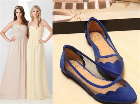 navy blue shoes with beige bridesmaid dress budget