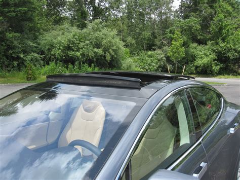 tesla inside roof tesla model s panoramic roof review