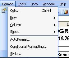 format sheet unhide adalah perintah untuk cara melakukan pengeditan dan pemformatan worksheet