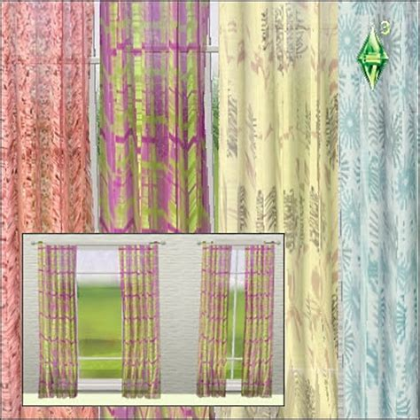 sims 3 curtains my sims 3 blog new curtains by mabra