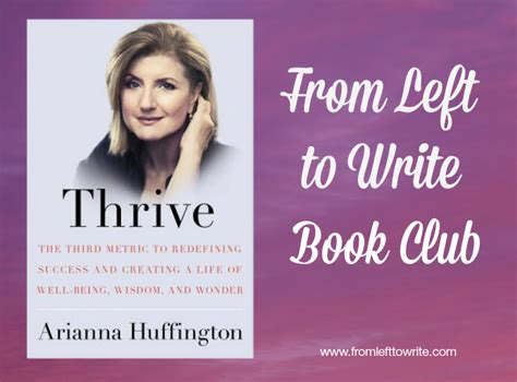 thrive books book club discussion thrive by arianna huffington from