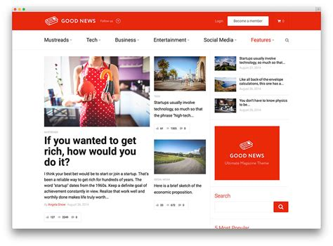 online layout 20 best wordpress newspaper themes for news sites 2017