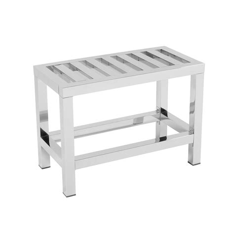 stainless steel shower bench buy bath bazaar stainless steel stool large amara