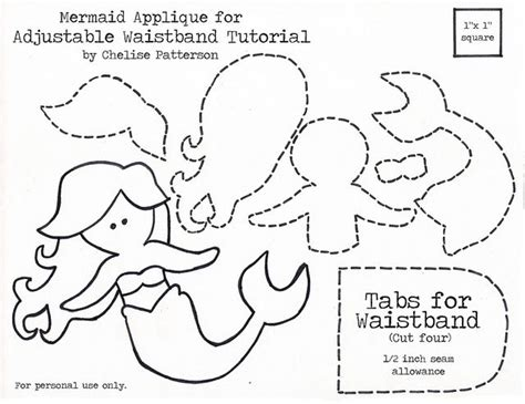 Mermaid Template mermaid applique la sirenita mermaid d orsay patterns and stencils