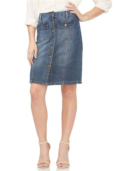 button front denim skirt skirts cato fashions