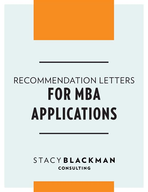 Programs To Help Prepare For Mba by Mba Application Recommendation Guide Blackman