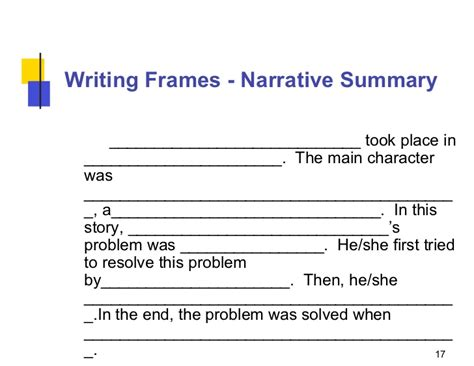 Idea And Details Summary Frames by Writing Summaries