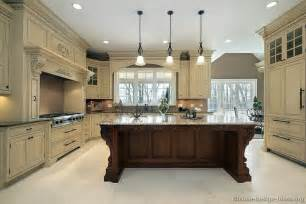 Kitchen Colours And Designs Pictures Of Kitchens Traditional Two Tone Kitchen Cabinets