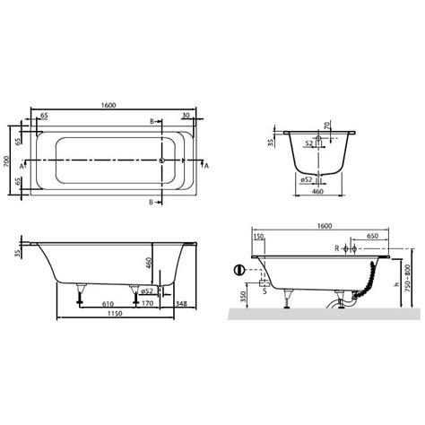 Abmessungen Badewanne by Villeroy Boch Architectura Badewanne 160 X 70 Cm