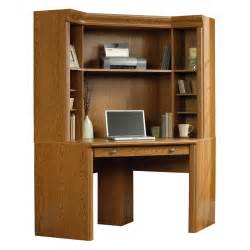 Oak Corner Computer Desk With Hutch Sauder Orchard Corner Computer Desk With Hutch Carolina Oak At Hayneedle