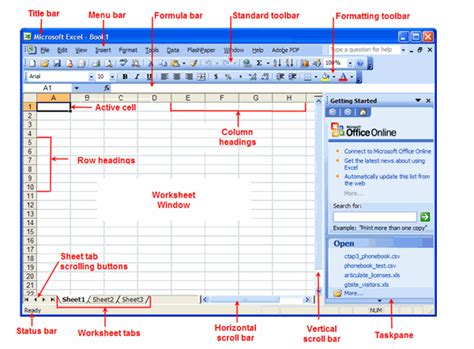 Parts Of A Spreadsheet by Business Software I Microsoft Excel Spreadsheet