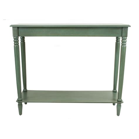 Teal Console Table Decor Therapy Simplify Antique Teal Large Console Table Fr1578 The Home Depot