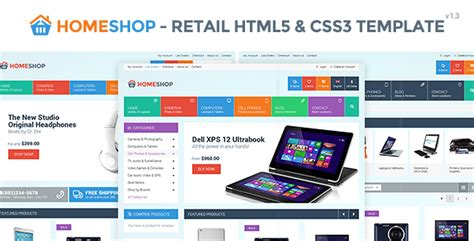 themes html css3 home shop retail html5 css3 template by monkeysan
