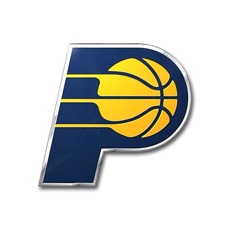 indiana pacers color emblem car or truck decal team promark