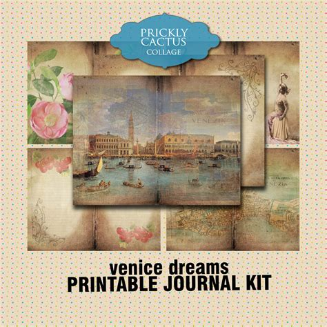 printable journal kits printable journal kit journaling papers for collage smash