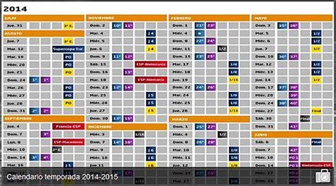Calendrier Liga 2014 15 Calendario Liga Bbva 2014 15 24 De Agosto Al 24 De