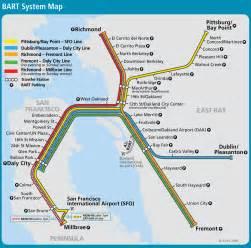 Bay Area Bart Map by San Francisco Bay Area Metro Map Bartl Mapsof Net