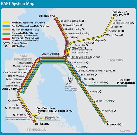 san francisco subway map san francisco bay area metro map bart great way to get