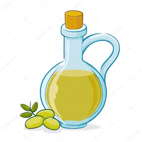 clipart vettoriali illustrazione vettoriale di olio di oliva in bottiglia
