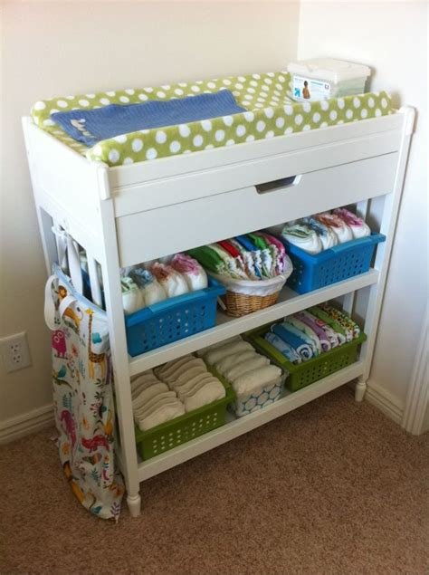 Change Table Organiser Organized And Colorful Nursery Guest Room