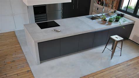 plan de travail cuisine effet beton entretenir un plan de travail en b 233 ton