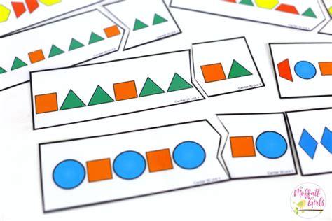 shape pattern matching kindergarten math curriculum shapes