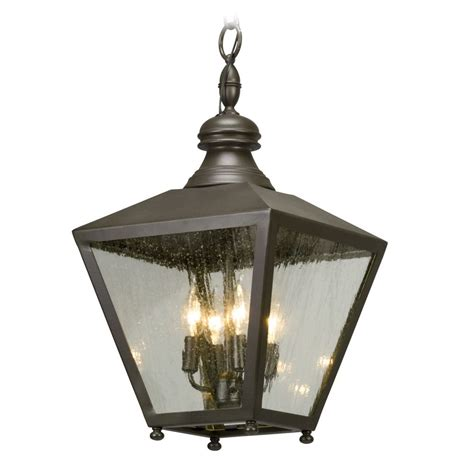 Troy Lighting Fixtures Seeded Glass Outdoor Hanging Light Bronze Troy Lighting F5197 Destination Lighting