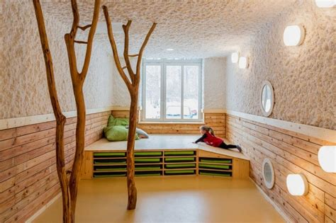 beautiful day care interior in simple and natural design by baukind home building furniture