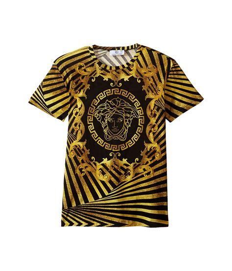 versace pattern t shirt versace kids short sleeve t shirt w medusa and stripe