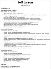 Resume Objective For Office Assistant by Office Assistant Resume Resumesles Net