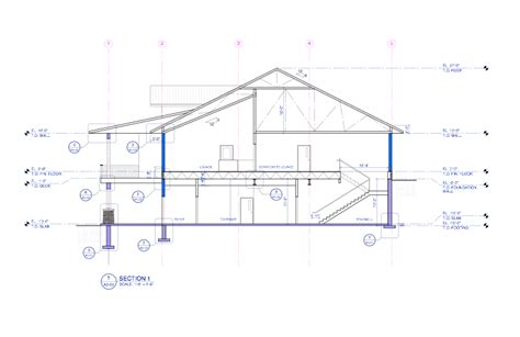 sectional drawings http www bradhumphreyarchitect com hinton golf club
