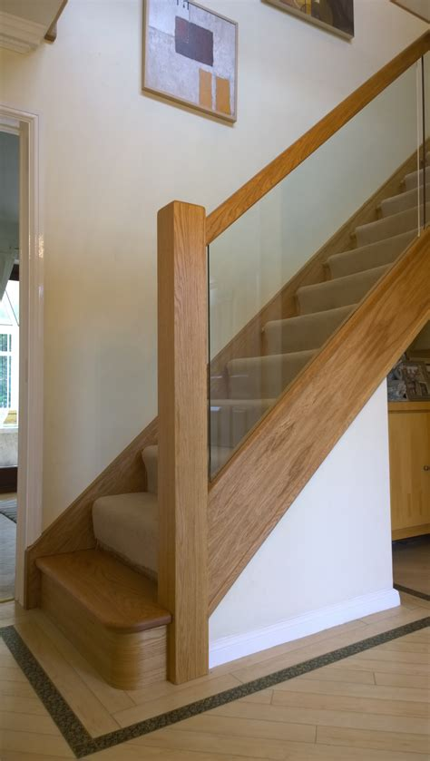How To Install A Stair Banister Glass Oak N E Stairs Ltd Renovation With Curtailed Base