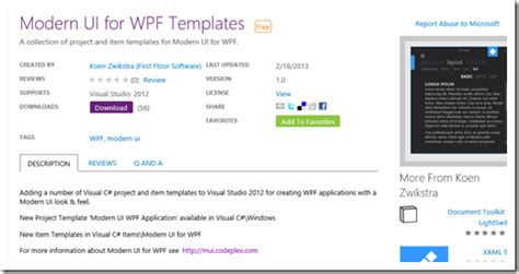 wpf ui templates modernize your wpf app s with the modern ui for wpf